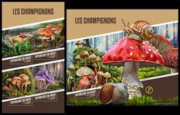 NIGER 2018 - Mushrooms - YT CV=39 €, 4509-12 + BF838 - Hongos