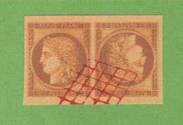 Reproduction N° 1 10 C Cérès Tête-bêche Oblitéré - 1849-1850 Cérès