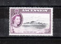 Ascension - 1956. Vista Dell' Isola. View Of Island. Alto Valore Della Serie. High Values Of Series. MNH, RARE - Geografia
