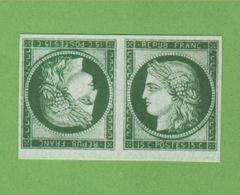 Reproduction N° 2 15 C Cérès Tête-bêche Neuf Sans Gomme - 1849-1850 Cérès
