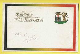 * Charleroi (Hainaut - La Wallonie) * (Mumm & Zaum) Souvenir De Charleroi, Wapenschild, Lion, Relief, Carte Gaufrée - Charleroi