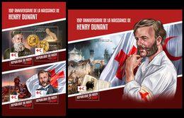 NIGER 2018 - Henry Dunant - YT CV=39 €, 4517-20 + BF840 - Henry Dunant