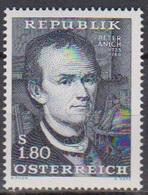 Österreich 1966 Nr.1216  ** Postfr. 200.Todestag Peter Anich ( 8691) Günstige Versandkosten - 1961-70 Ungebraucht