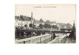 Cpm - 67 - STRASBOURG - Vue Sur Le Quai De L'Abattoir - N°8 Restauration BRAUEREI GRUBER Brasserie Tramway écluse - Strasbourg