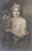 Femmes - Femme Dénudée Aux Pivoines - Peintre E. D'Otemar - Jour De Fête - Femmes