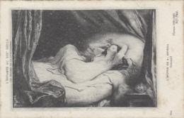 Arts - Peinture - Femme - Nue - Estampe Au XIXme Siècle - Sommeil - Deveria - Malerei & Gemälde