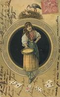 Tzigane Rom Gypsy Mendiante Tireuses De Cartes à Jour. Horoscope. Fortune Teller . Cigogne - Europe