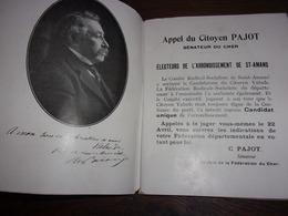 BERRY CHER SAINT AMAND MONTROND PAJOT SENATEUR JEAN LUCHAIRE UNE POLITIQUE REALISATION PARLEMENTAIRE UN HOMME1924 - Centre - Val De Loire