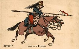 LYON DRAGONS -   Militär Militair Military Les Militaires - Militares