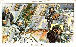 NUESTRA ARMADA  EMPEZAR EL FUEGO -   Militär Militair Military Les Militaires - Militares