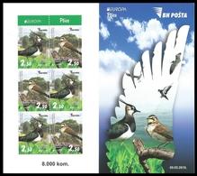 BOSNIA HERZEGOVINA MAIN POST (SARAJEVO) 2019 EUROPA BIRDS Booklet Carnet MNH ** - 2019