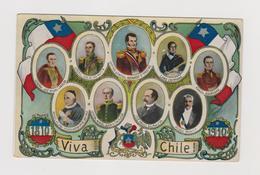 Chile,  1810-1910, Independencia  - F.p. -  Anno 1910 - Cile