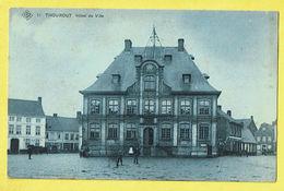 * Torhout - Thourout * (SBP, Nr 11) Hotel De Ville, Town Hall, Stadhuis, Animée, Café, Rare, Unique, Prachtkaart - Torhout