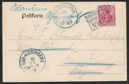 1903 DR  AK Postdampfer 5Pfg  Schiffspost Dänemark- Deutschland Fähre Korsør – Kiel KORSOR - Kiel /DPSK POSTKT / Nº 4 - Lettres & Documents