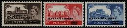 Qatar 1957 - Mi-Nr. 13-15 I ** - MNH - Burgen - Queen Elizabeth (I) - Qatar