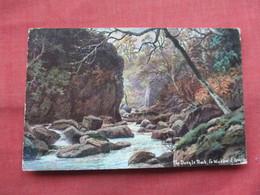 Ireland Co. Wicklow The Dargle Rock E. Longstaffe Artist Signed Has Stamp & Cancel   Ref  3484 - Wicklow