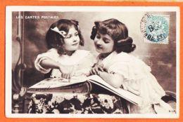 THU009-Promotion LES CARTES POSTALES-Fillettes Avec Album 1905 à DUPONT Chez LASCOUNET Montfort Sauveterre /S.I.P 1168 - Postal Services