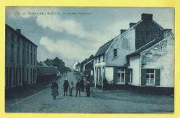 * Fontaine L'Eveque (Hainaut - La Wallonie) * (SBP, Nr 21) Rue Des Houillières, Belle Animation, Straatzicht, Zelfzaam - Fontaine-l'Evêque