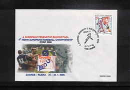 Kroatien / Croatia 2000 Europa Handball  Championship Interesting Cover - Handball