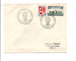 OBLITERATION NOUVELLE TOUR DE CONTROLE AEROPORT D'ORLY 1966 - Commemorative Postmarks