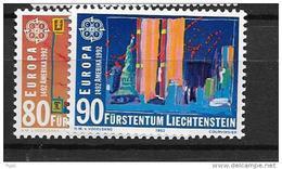 1992 MNH Cept Liechtenstein - Europa-CEPT