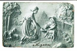 CPA - Carte Postale-Belgique Une Maman Et Sa Fille Donnant à Manger à Des Moutons-1907 VM4676 - Paysans