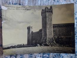 Montalcino Siena Fortezza Monte Amista Cartolina VIAGGIATA 1953 - Italia