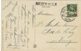 """1921, """" NIESEN - KULM (Bern) """" , L2   ,   #a481 - Poststempel"""