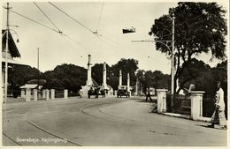Indonesia, JAVA SOERABAIA, Kajong Bridge, Car (1920s) Postcard - Indonesië