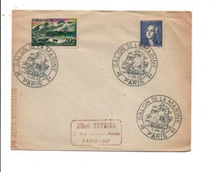 OBLITERATION SALON DE LA MARINE PARIS 1943 - Postmark Collection (Covers)