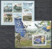 T501 2009 S.TOME E PRINCIPE AVIATION TANKS SHIPS NATO OTAN 1BL+1KB MNH - Andere