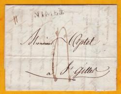 1809 - Marque Postale De NIMES, Gard Sur Lettre Avec Corresp. Commerciale  Vers Saint Gilles - Règne De Napoléon 1er - Marcophilie (Lettres)