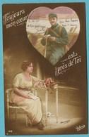 CPA Militaire - Couple (à Thérèse Marion De Sancerre ) 1915 - Patriotiques