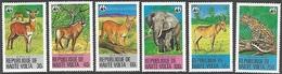 Burkina Faso/Upper Volta   1979   Sc#506-11  WWF Wildlife Set   MNH  2016 Scott Value $29.90 - Nuevos