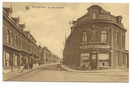 MONT-A-LEUX-Le Café Du CENTRE... 1936  Animé - Belgique