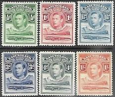 Basutoland   1938  Sc#18-20, 22-3, 25  6 Diff MH To The 1sh  2016 Scott Value $4.70 - Basutoland (1933-1966)