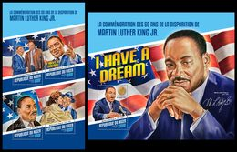 NIGER 2018 - Martin Luther King - YT CV=39 €, 4557-60 + BF850 - Martin Luther King