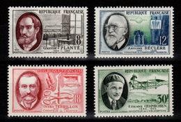YV 1095 à 1098 N* Savants Et Inventeurs Cote 3 Euros - France