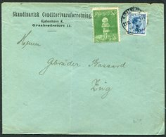 1915 Denmark Skandinavisk Conditorivareforretning Copenhagen Christmas Charity Seal Cover - Covers & Documents