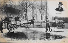 CPA.  > Aviation > Avions > ....-1914: Précurseurs > Le Biplan GOUPY III - Construit Dans Les Ateliers BLERIOT -TBE - ....-1914: Précurseurs