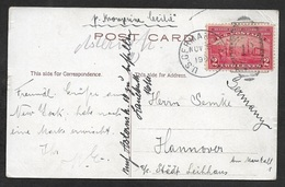 1909  US Seapost - 2c Hudson Fulton Celebration Cancelled Duplex U.S German Seapost Nov 9 1909 - Posted On Board Cecilie - Covers & Documents