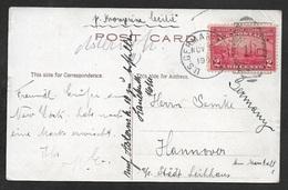1909  US Seapost - 2c Hudson Fulton Celebration Cancelled Duplex U.S German Seapost Nov 9 1909 - Posted On Board Cecilie - United States