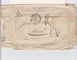 Sur L. CAD Type 12 Bédarieux Hérault Déc. 1839. T. 15 Montpellier. Taxe Manuscrite. Inscription Papiers Ss Valeur. (2443 - Marcofilie (Brieven)