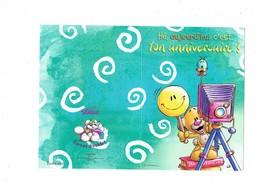 Double Carte DIDDL N° 29 - SOURIS MOUSE - Appareil Photo Photographe - Smiley Petit Oiseau GOLETZ - Diddl
