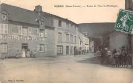 87 - Nedde - Route De Faux-la-Montagne (Hôtel Et Café Degabriel, Café Restaurant Magadoux) - France