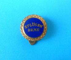 SPLUGEN BRAU ... Pendants , Lamps - Italy Vintage Enamel Buttonhole Pin Badge Spilla Distintivo Italia - Marcas Registradas