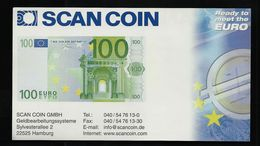 "Test Note ""SCANCOIN"" Testnote, 100 Euro, Typ D = 147 X 82 Mm, Beids. Druck, RRRRR, UNC, Provsedel - EURO"