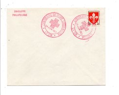 OBLITERATION CENTENAIRE DE L'IDEE CROIX ROUGE LYON 1959 - Postmark Collection (Covers)