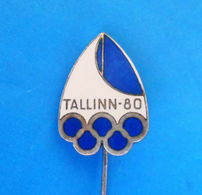 OLYMPIC GAMES 1980. Moscow - SAILING Tallinn Estonia ... Nice Enamel Pin * Voile Vela Segeln Zeilen Segling Seiling - Zeilen