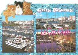 34 - Gros Bisous : Le Cap D'Agde - Au Bord De La Méditerranée - Multivues (3 + Chat) - éd.  APA-POUX (circ.2003) - Agde